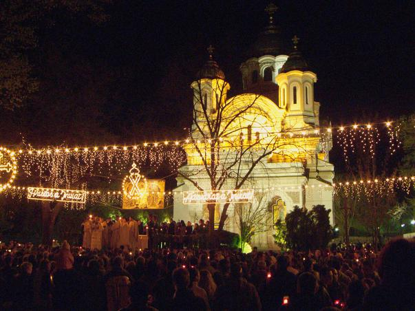 Easter Midnight Mass in Romania