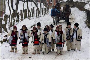 Romanian carolers