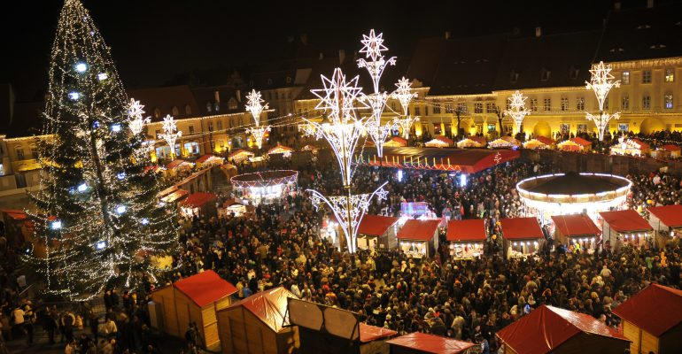 Christmas fair in Sibiu, Romania