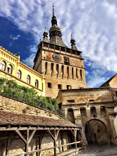 Sighisoara dates back from 12th century. This is the Clock Tower.