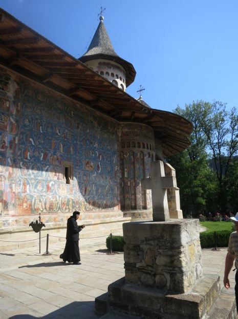 Voronet Monastery is managed by Orthodox nuns